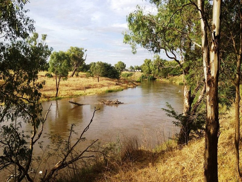The Macquarie River opposite Ranelagh's front gates.
