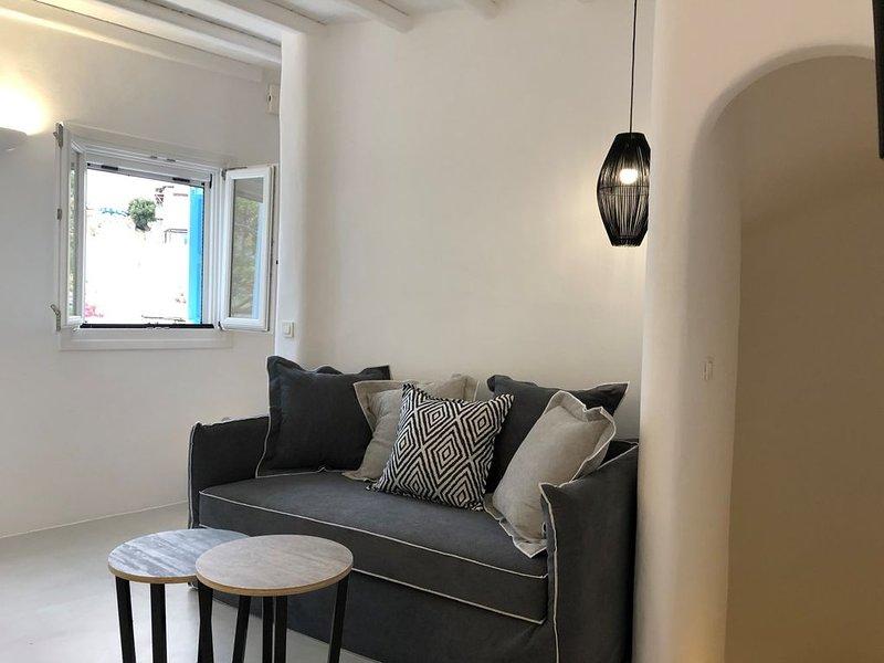 Mykonian Mews Luxury Residence H3  2 bedroom / 2.5 bath, vacation rental in Platys Gialos