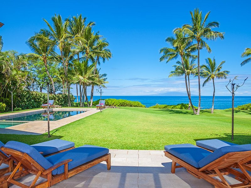 Ocean Front and Poolside Panoramic View From Wailea Sunset Estate