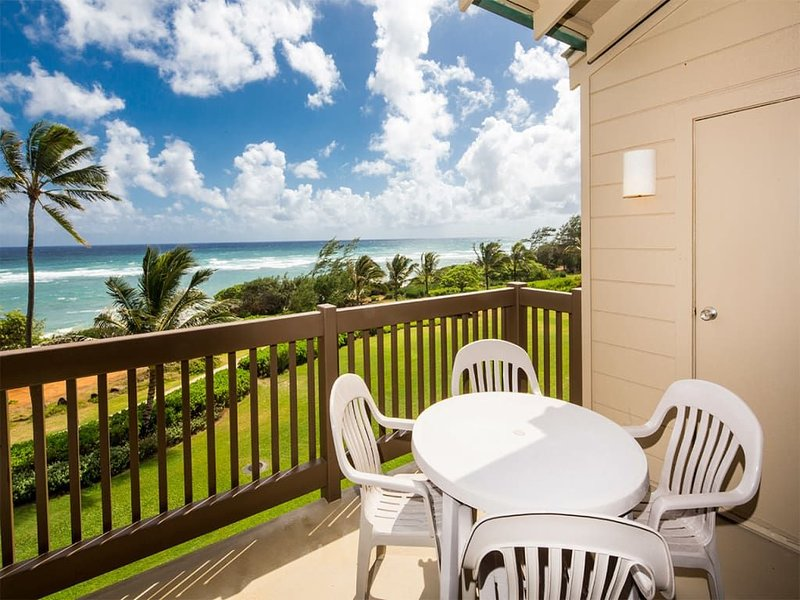 Casual Condo w/Super View! Private Lanai, Full Kitchen, WiFi, DVD–Kaha Lani 320, holiday rental in Lihue
