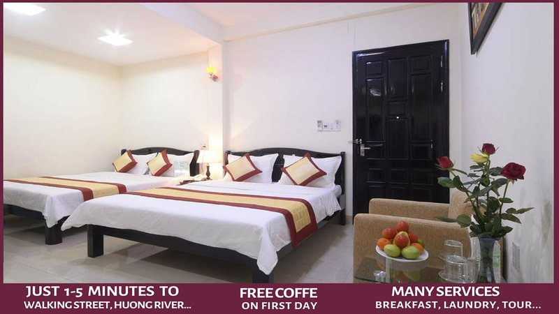 Canary Hotel - Luxury rooms in the Hue City Center - 'Easy walking' to visit, holiday rental in Phu Bai