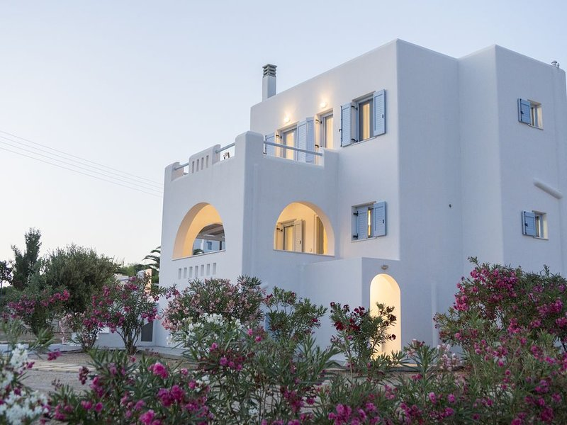 Villa Schinoussa, a luxurious 3 bedroom self-catered villa, holiday rental in Ano Koufonissia