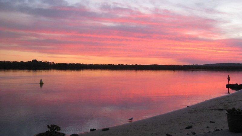 Superbes couchers de soleil sur la rivière Richmond