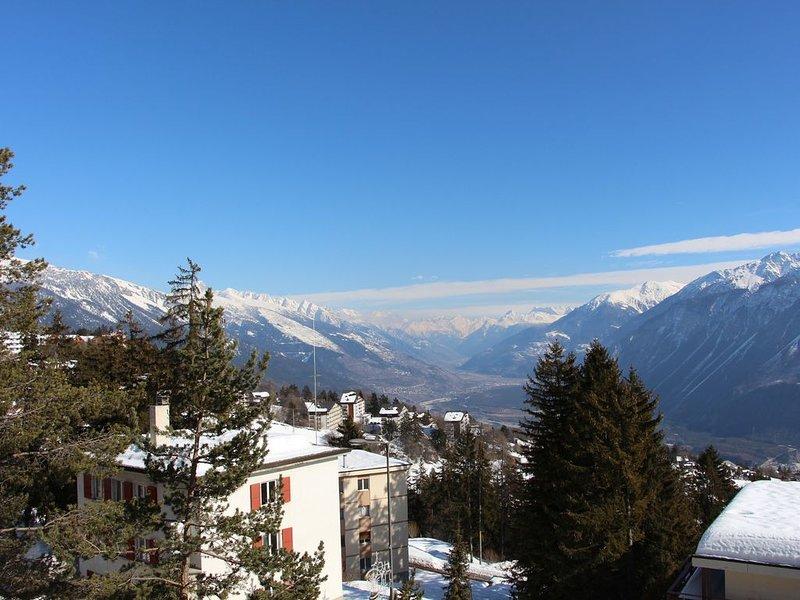 Alpine Panorama 1 bedroom appartment, aluguéis de temporada em Miege