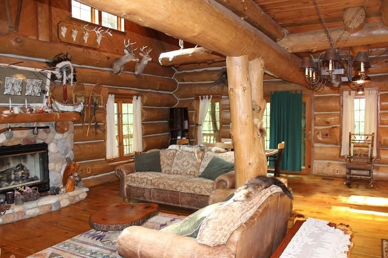 Dream Catcher Log Cabin (Newaygo, MI): Cozy cabin on 60 private acres!, holiday rental in Big Rapids