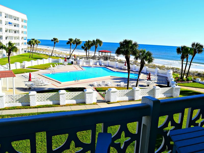 This Gulf Front one bedroom is right on the beach and overlooking one of El Matadors two pools!