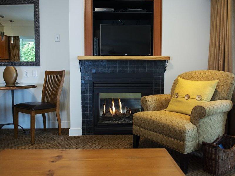 sala de estar chimenea de gas