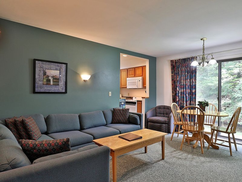 109 Deluxe One bedroom Queen Suite on the 1st floor w/ outdoor heated pool, holiday rental in Sherburne
