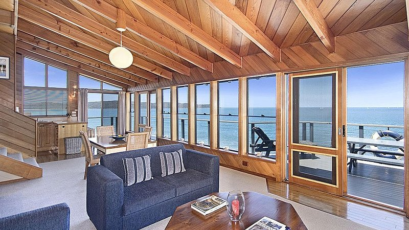 The main living space opening on to the sundeck
