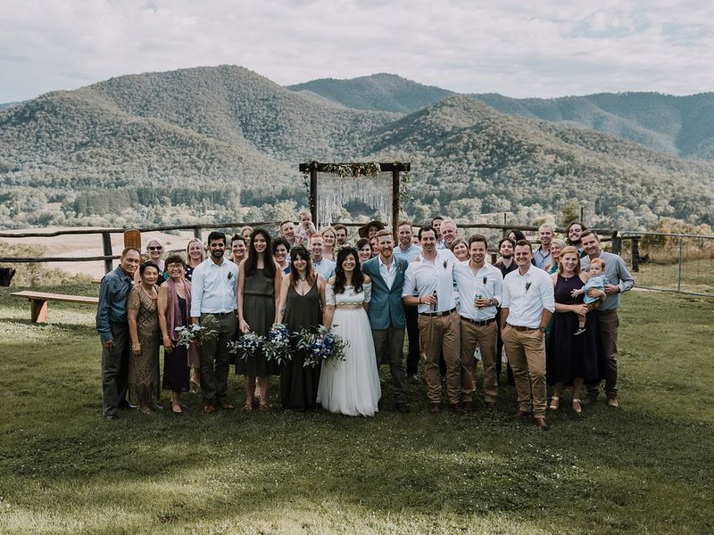 Wedding party and guests, plus VIEW