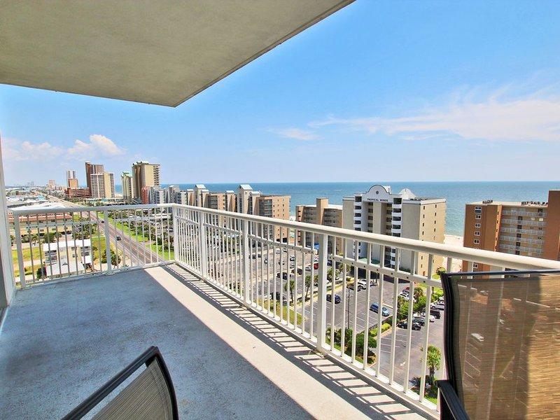 Corner Unit Balcony Views of Gulf Shores