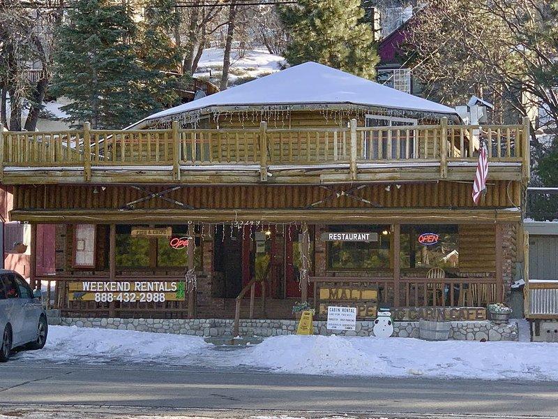 Large Lake View Log Home w/ kitchen, holiday rental in Green Valley Lake
