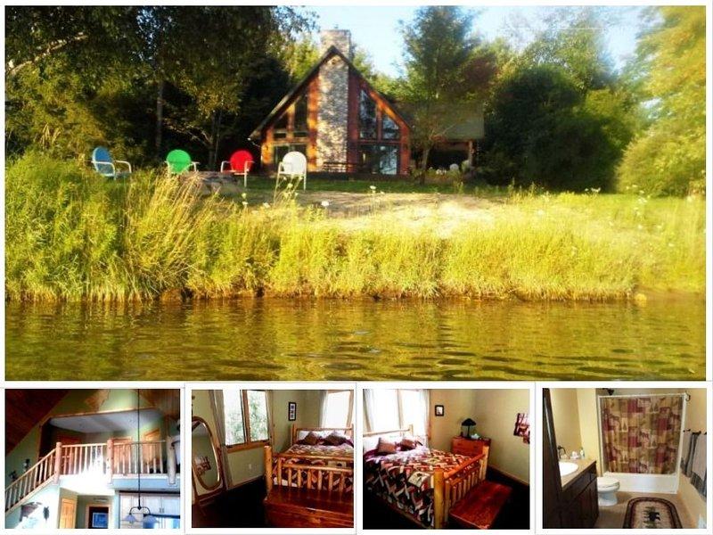 On Intermediate Lake ~ Upper Loft Bed-Bath w/Breakfast,  Couples Get-A-Way, location de vacances à Central Lake