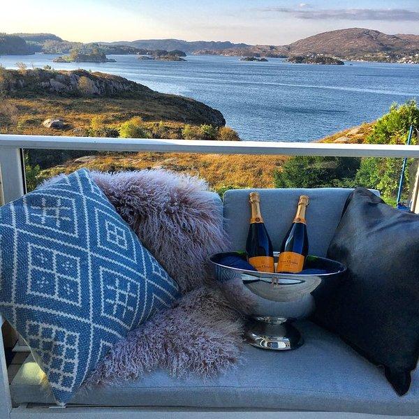 Bergen Island Villa - With amazing Sea View 20 min. From Downtown Bergen., Ferienwohnung in Os Municipality