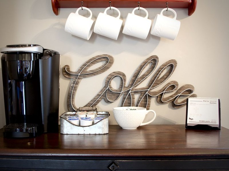 coffee for 6 guests is provided for the first morning