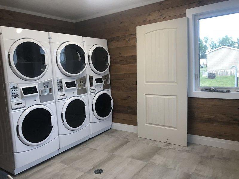 Laundry. Bring Loonies & liquid detergent