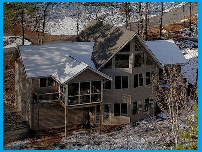 L'inverno a Blue Ridge Overlook.