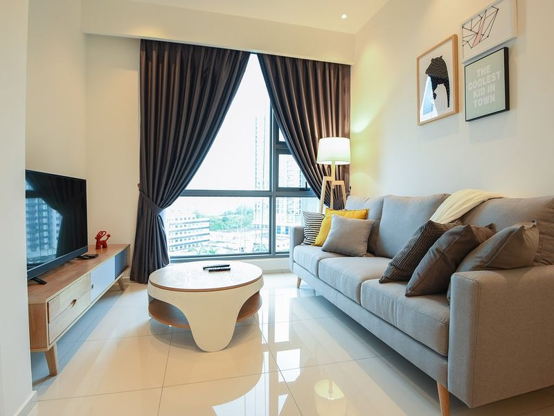 Cozy Living room with full amenities provided, spectacular city view