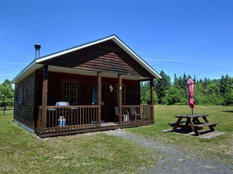 Magnifique chalet à Val-David - Maison en rondins # 4, alquiler vacacional en Sainte Agathe des Monts