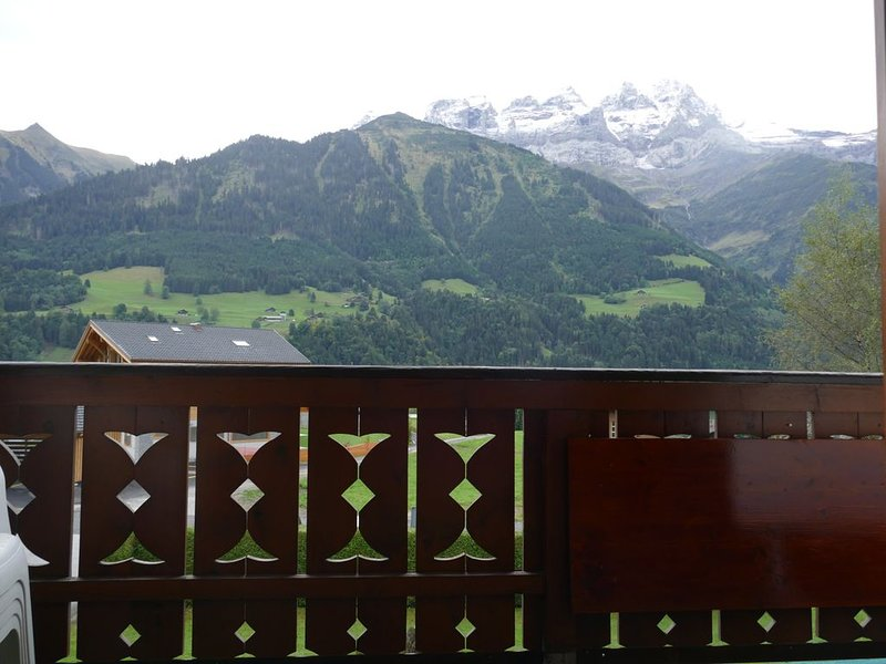 Spacious apartment with amazing views  - close to the Portes du Soleil, Ferienwohnung in Champoussin