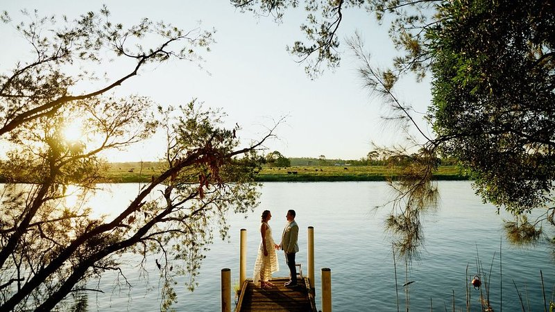Beautiful country wedding, event venue or holiday on magical riverfront acreage, holiday rental in Morpeth