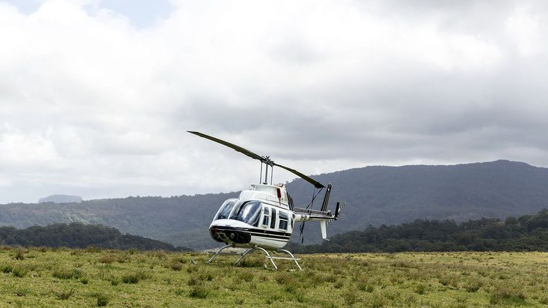 Landing via helicopter