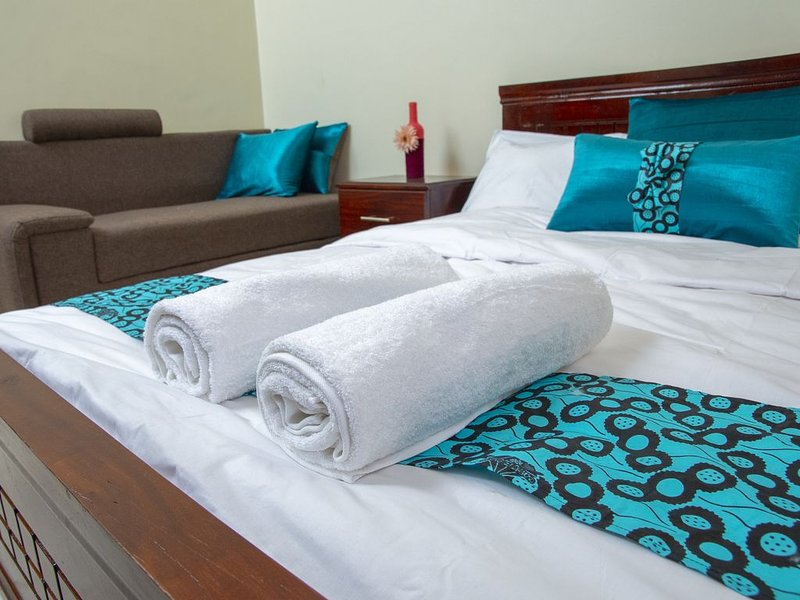 Sereneville is a creatively decorated 1 bed room private apartment ., location de vacances à Kasangati