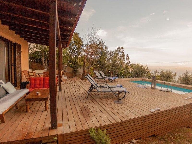 Semele House w swimming pool & garden, holiday rental in Schinias