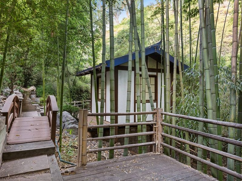 Take the path down into the bamboo forest below the home and explore the nature