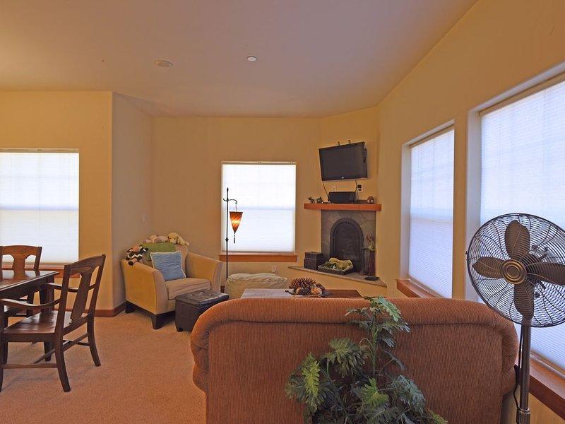 Cozy living room with fireplace & Smart TV (Netflix & Hulu)