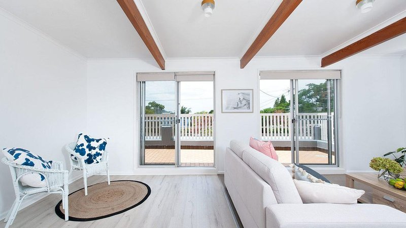 Wake up to the sound of the waves and watch the sun rise from your spacious deck, holiday rental in Fingal Bay