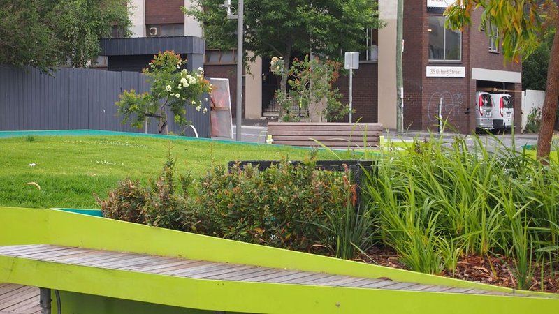 One of a few pocket parks enhancing the inner city landscape