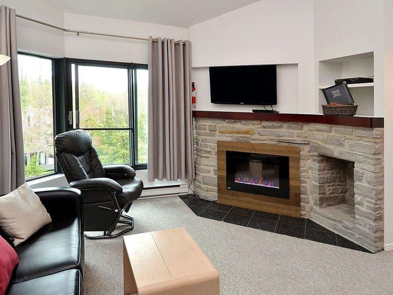 4015 - Wohnzimmer mit elektrischem Kamin / Wohnzimmer mit elektrischem Kamin