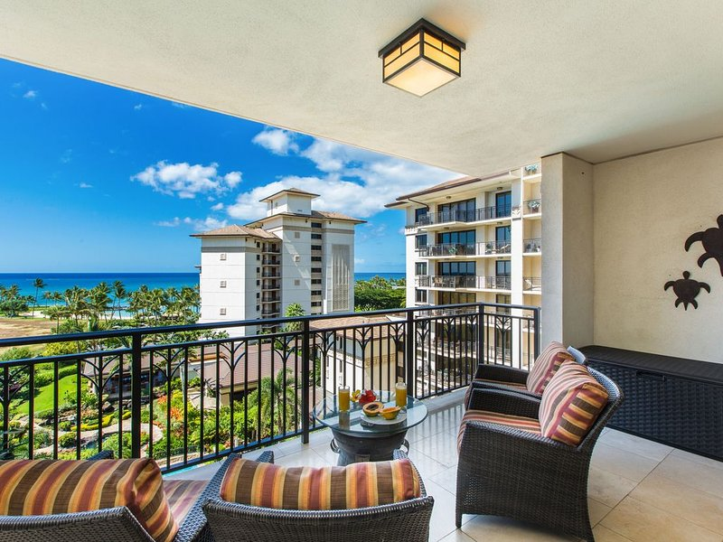 Tranquil Pool & Garden Views from this Exquisite Ko Olina Ocean Tower Villa!, holiday rental in Kapolei