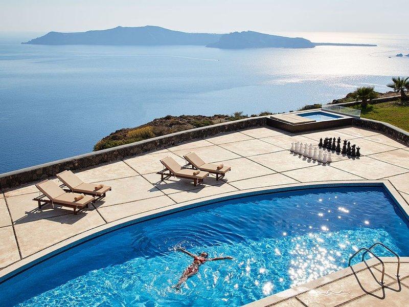 Villa Agrimi in Santorini, Greece, holiday rental in Panagia Kalou