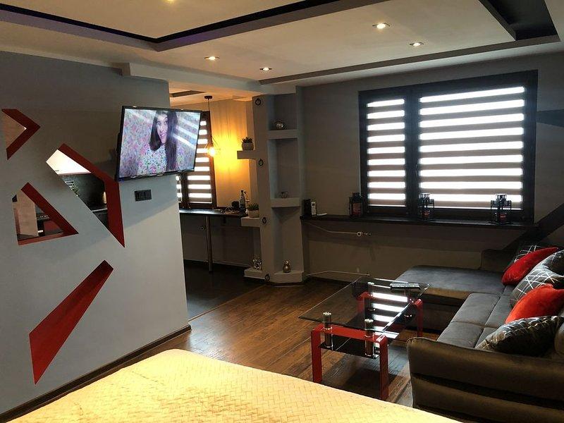 Klimatyzowane 40 metrowe bardzo komfortowe mieszkanie typu studio, aluguéis de temporada em Ruda Slaska