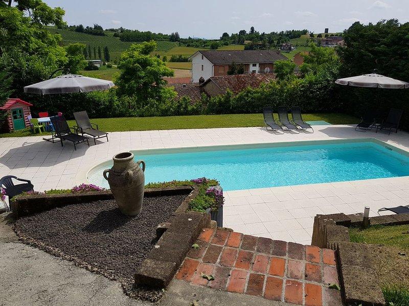 Luxe vakantiewoning met zwembad in Piemonte - Monferrato, vacation rental in Camino