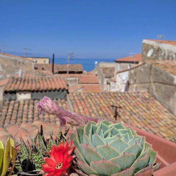 Dimora tipica in centro con terrazzino vista mare e cattedrale, aluguéis de temporada em Cefalú