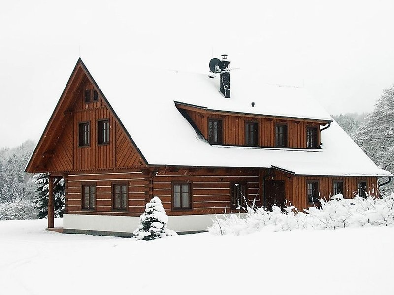 Spacious cottage with 5 bedrooms, woodburning stove, sauna, ski lift only 3 km, vacation rental in Haje nad Jizerou