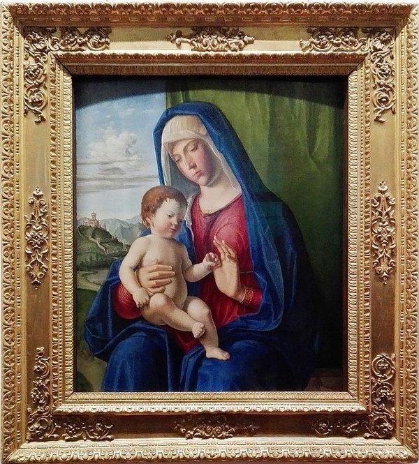 """Cima da Conegliano - """"Madonna with Child"""". Work exhibited at the Uffizi in Florence"""