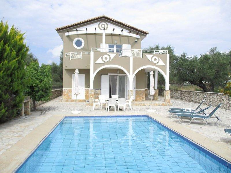 Beautiful Villa Ella with private pool.  E.O.T Licence MHTE 0428K**********, alquiler vacacional en Zakynthos