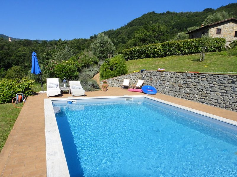 Secluded Mountain Villa with Private Pool, Stunning Views, vacation rental in Barbarasco