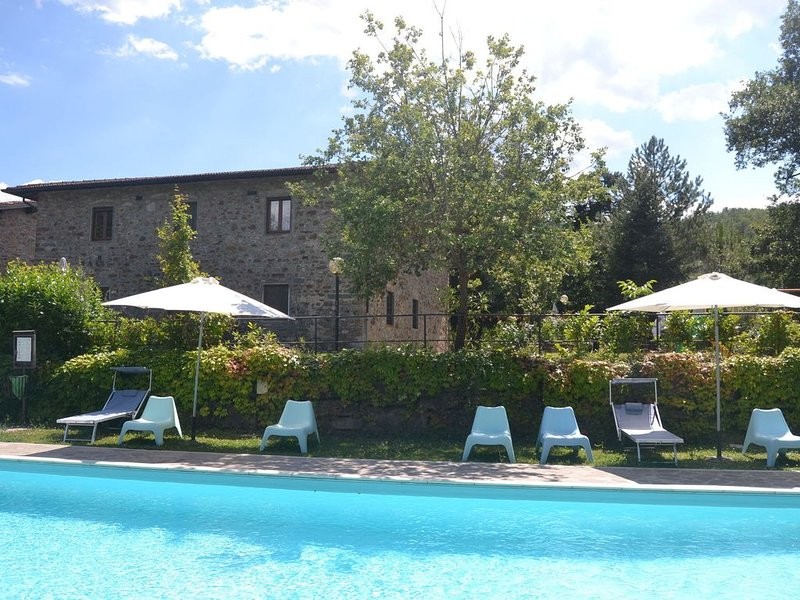 Serene Apartment with Garden, Pool, Terrace, Deckchairs, vakantiewoning in Greve in Chianti