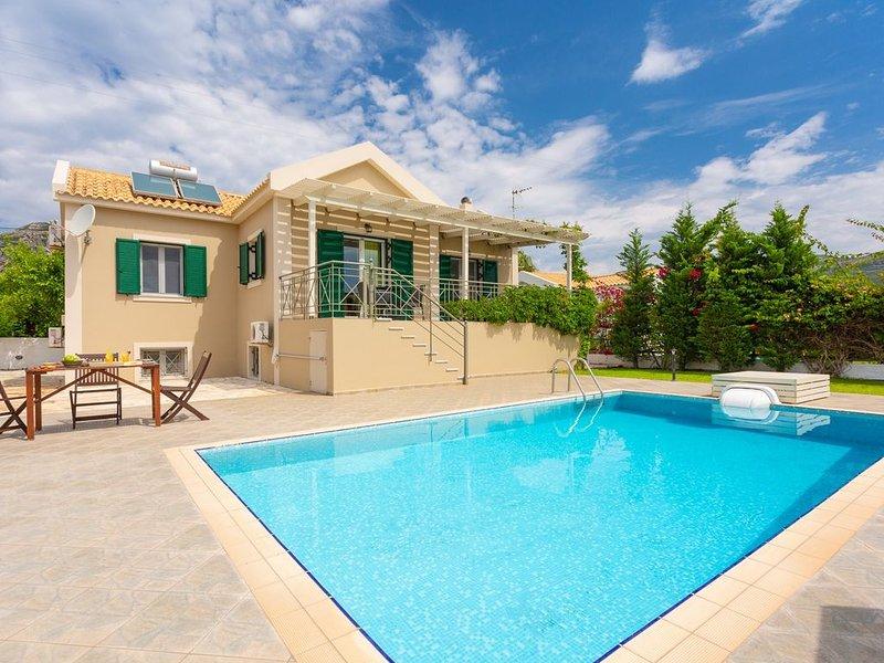 Villa Alexandra: Large Private Pool, Walk to Beach, Sea Views, A/C, WiFi, Car No, vacation rental in Katelios