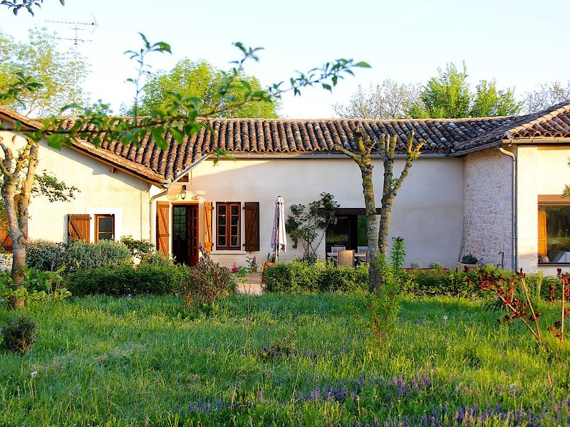 Beautiful countryside house with its own park, 2 terraces, air conditionning., vacation rental in Labastide-de-Penne