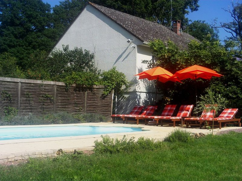 L'Ocee, your perfect holiday home with private swimming pool, holiday rental in Cerilly