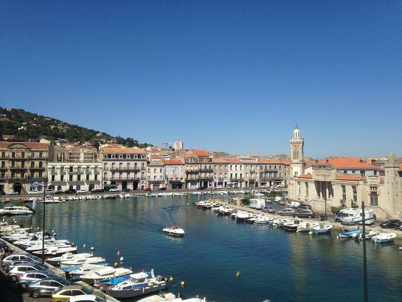 Appart quai Sète avec vue sur flottille de bateaux + Garage, vacation rental in Sete