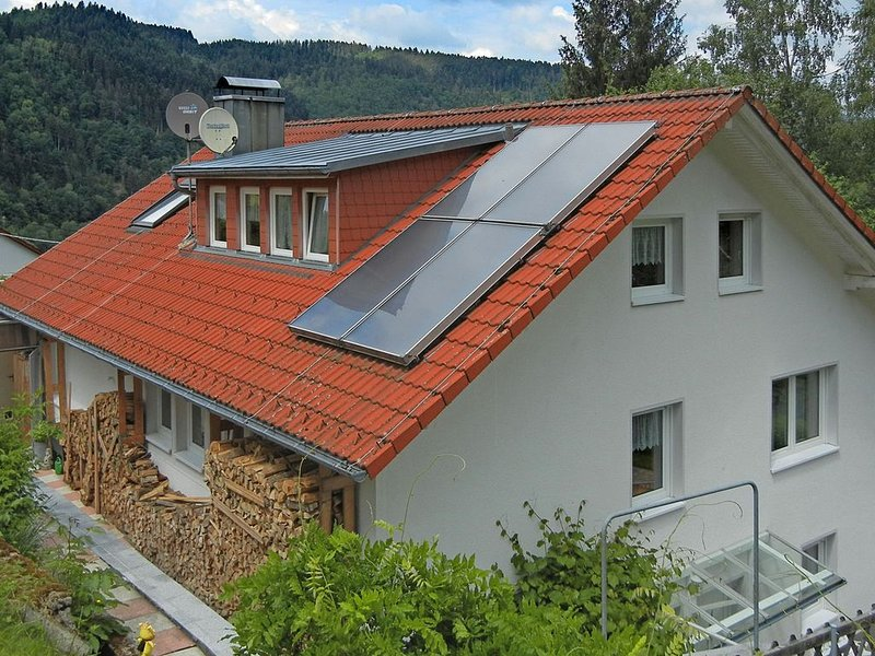 Gorgeous roofed apartment in Schiltach with pond and pool, holiday rental in Ehlenbogen