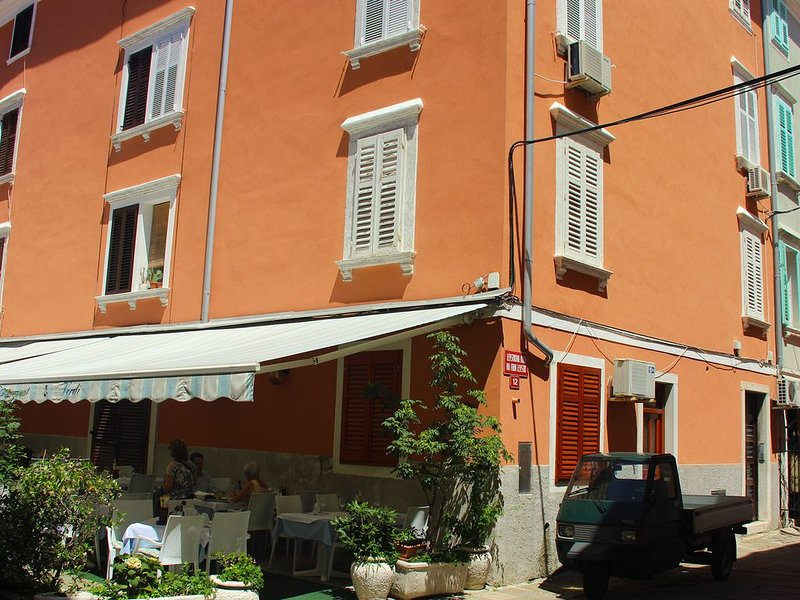 Apartment close to the Tartini square and local food market, 100m from the beach, vacation rental in Piran