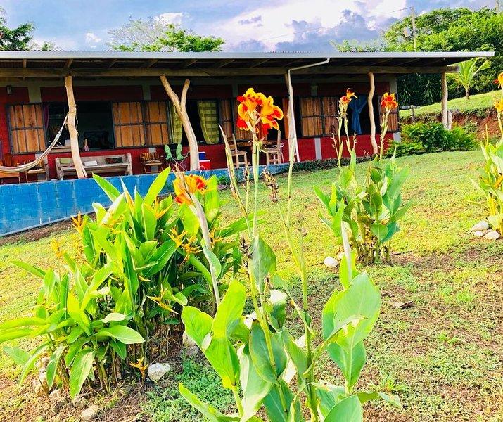 Hermosa casa guajira con espectacular vista  al pacifico y ala jungla, holiday rental in Paquera